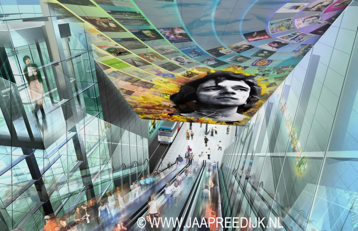 Het ontwerp voor het Ramses Shaffy Metro Station door Jaap Reedijk