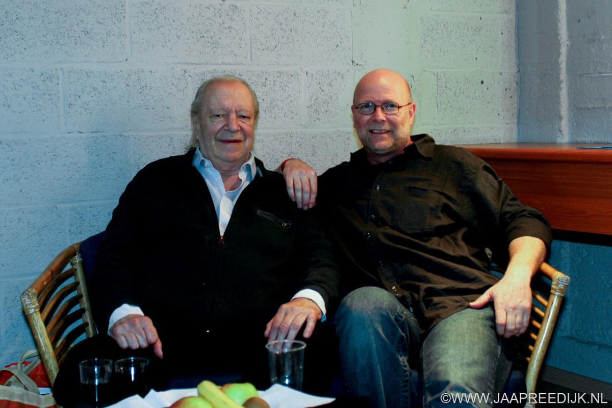 Ramses Shaffy en Jaap Reedijk. Deze foto is gemaakt door Bart Peters in Antwerpen. www.jaapreedijk.nl