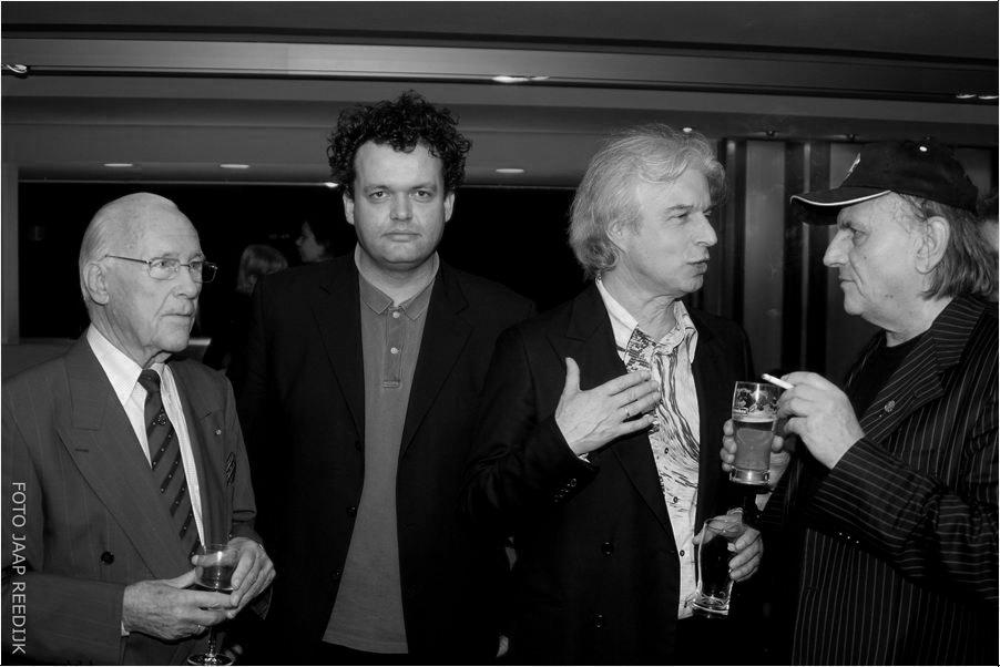 Eddy Christiani, Daniel Lohues, Boudewijn de Groot en Harry Muskee tijdens het Harpen Gala 2007.
